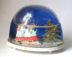 Vintage Christmas Church Singing with Christmas Tree Collectible Snow Globe #211