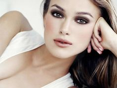 Keira Knightley shows us that pale skin can look oh-so-beautiful. Makeup by Pat McGrath.