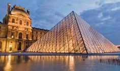 The Louvre in Paris was once the largest palace in the world, and is now one of Europe's most popular art museums, holding such masterpieces as the Mona Lisa and the Venus de Milo.