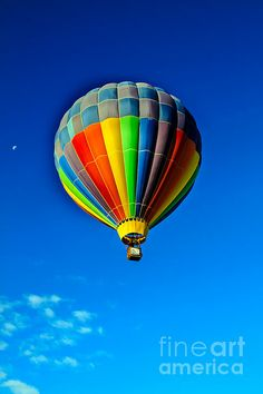 Floating Free In A Hot air  Balloon: See more images at http://robert-bales.artistwebsites.com/