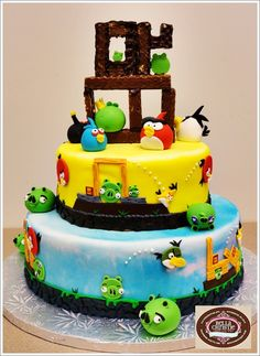 Angry Birds: cool theme (and a lot of ideas) to make your own party. http://www.squidoo.com/angry-birds-party-ideas.  I'm gonna have to get this for Calebs next party or special event.. He's OBSESSED w/ angry birds :)