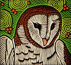 barn owl by Lisa Brawn Owl Art, Bird Art, Woodcut Art, 8th Grade Art, Bird Quilt, Bird Drawings, Stencil Painting, Graphic Illustration, Illustrations