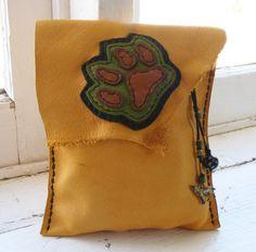 WOLF Tarot Bag medicine bag spirit pouch with by pradoleather