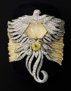 Spectacular Yellow-Sapphire and Diamond Cartier Watch