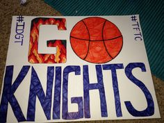 basketball poster diy high school