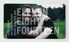Check out my Save the Date Magnet I just made :) Cannot wait to get them in! I designed from MagnetStreet