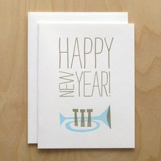 Happy New Year Holiday Card by luludee on Etsy