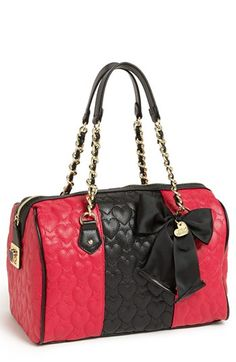 Betsey Johnson 'Be My Wonderful' Satchel available at #Nordstrom. I'm in love <3