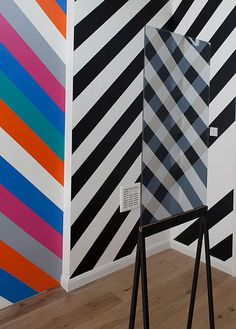 Kim Thome. The new installation by Kim is two doors away from P It features mirrors and stripes and, as you can see, is rather good