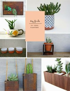 Bookmarked: Poppytalk's picks for planters on Etsy.