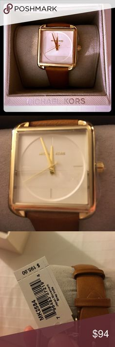 NEW Michael Kors watch ⌚️ Brand-new with tags Michael Kors watch brown strap with gold metal accents retails for $195!  Get it while you can gorgeous! Michael Kors Accessories Watches