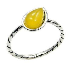 Sterling Silver Natural Butterscotch Baltic Amber Stacking Ring, Size 7.5  Price : $17.95 http://www.silverplazajewelry.com/Sterling-Silver-Natural-Butterscotch-Stacking/dp/B00YYUPGUG