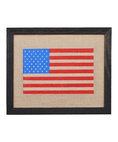 This Stars & Stripes Framed Burlap Print by Fiber and Water is perfect! #zulilyfinds