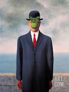 Le Fils de L'Homme (Son of Man) Art Print by Rene Magritte at Art.com
