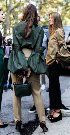 Hunter Green & Tan | Street Chic.