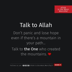 Islamic Quotes In English, Islamic Inspirational Quotes, Arabic Quotes, Wow Facts, Islam Facts, Allah Islam, Don't Panic, Muslim Quotes, Love You