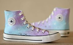 Galaxy Vans Shoes I would like plain white ones and fabric paint so I could do it myself