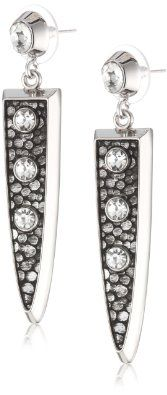 $38.00 Amazon.com: Vince Camuto Silver and Stingray Linear Post Earrings: Jewelry