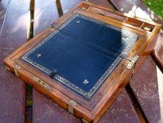 Antique Victorian Burr Walnut Writing Slope Box