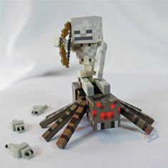 New Minecraft Overworld Spider Jockey Pack Action Figure Toy Set by Jazwares | eBay