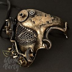 Details about Steampunk Modern Design Phantom Style Costume Party Mask Steampunk Cosplay, Mode Steampunk, Steampunk Mask, Steampunk Design, Steampunk Clothing, Modern Steampunk Fashion, Steampunk Circus, Victorian Steampunk, Masquerade Prom