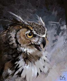owl art artwork & owl art - owl artwork - owl art projects for kids - owl art drawing - owl art painting - owl art for kids - owl art whimsical - owl art artwork Wildlife Paintings, Wildlife Art, Animal Paintings, Animal Drawings, Owl Drawings, Owl Bird, Bird Art, Pet Birds, Owl Artwork