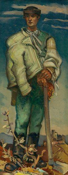 Martin Benka - Slováci   Web umenia Jack Vettriano, Folk Clothing, Epoch, Statues, Illustrators, Pop Art, Hunting, Painters, Folk Costume