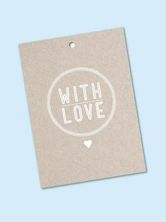 Pretty Eco Quirky 'With Love' Gift Tags  by TheLovelyLetters, $5.00