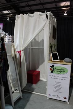 New Changing room at our Pop up shop! Portable change room, dressing room, spring fashion