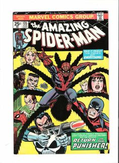 AMAZING SPIDER-MAN #135 Grade 9.2 Bronze Age! 2nd full Punisher appearance! http://r.ebay.com/dOWfkL