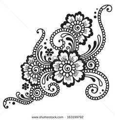 Lace Tattoos for Women | Henna Stock Photos, Illustrations, and Vector Art