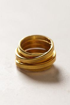 Anthropologie Coiled Brass Ring