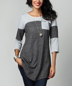 Look what I found on #zulily! Charcoal French Terry Raglan by Reborn Collection #zulilyfinds