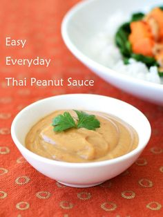 """Easy Everyday Thai Peanut Sauce - It's not """"authentic"""" but it is that go-to, delicious, versatile, 10-minute recipe that uses easy-to-find ingredients for quick, flavorful meals. Naturally dairy-free, gluten-free, vegan and paleo optional."""