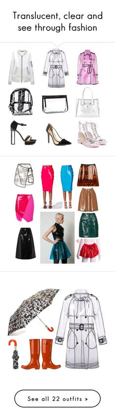 """""""Translucent, clear and see through fashion"""" by leatherboy ❤ liked on Polyvore featuring skirts, pleated circle skirt, pleated skater skirt, knee length a line skirt, pvc skirt, high waisted pleated skirt, Sophia Webster, Wildfox, Wanda Nylon and BLK DNM"""