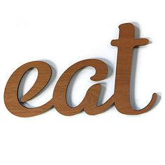 Eat Wooden Sign by Three Potato Four $38