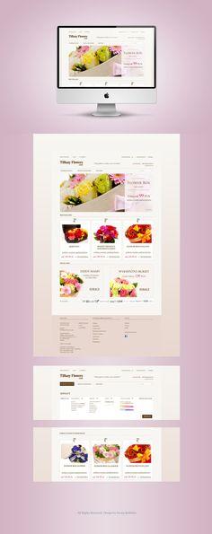 Tiffany Flowers & Cafe by Iwona Kulińska, via Behance