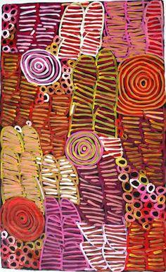 "Minnie Pwerle  - ""Awelye"" (body paint design), 12043  150 x 90 cm  Acrylic on linen"