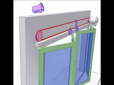 Folding door controlled by cable - YouTube