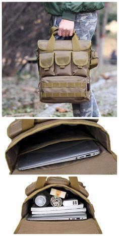 da82239e8a36 Men s Tactical Outdoor Casual Crossbody Bag Sports Multi Pocket Oxford  Sling Bag Bagail.com http