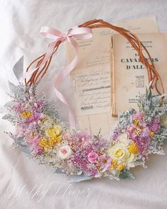 * ラプンツェルカラーのドレスに合わせたリースブーケ * 花冠とお揃いのデザインで♡ * 花嫁さまからとってもかわいくて素敵なお写真が届きましたのでご紹介させていただきます(*´꒳`*) とってもかわいい花嫁さまにこんなに素敵に花冠とリースブーケをコーディネートしていただけて、本当にうれしくて、私まで幸せに包まれました♡* * * #リース#リースブーケ#ブーケ#ウェディング#ウェディングブーケ#ブライダル#ブライダルブーケ#ラプンツェル#ラプンツェルヘア #ラプンツェルウェディング#カラードレス#ウェディングドレス#プレ花嫁#花嫁#卒花嫁 #日本中のプレ花嫁さんと繋がりたい #ウェディングニュース #結婚式#結婚式準備#披露宴#ナチュラルウェディング#ディズニーウェディング#プリザーブドフラワー#wreath #wedding #wreathbouquet#bouquet#ウェディングヘア#花冠#ヘッドアクセ Bride Flowers, Wedding Flowers, Wreaths And Garlands, Wedding Bouquets, Wedding Dresses, Bunch Of Flowers, Flower Vases, Bunt, Flora