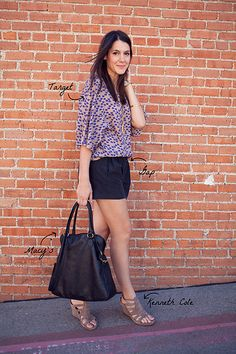 Love wearing shorts in fall. Switch the heels for flats, and you have a cute, all day outfit.