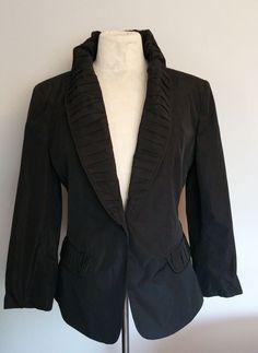 $1100 BURBERRY London Fully Lined All Season Cotton Jacket Blazer 12 Nova Check   | eBay