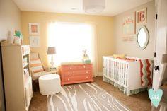 Soft pastels baby girl nursery - eclectic - nursery - salt lake city - by design loves detail Baby Bedroom, Nursery Room, Girl Nursery, Nursery Prints, Home Decor Instagram, Yellow Nursery, Peach Nursery, Bright Nursery, Pastel Nursery