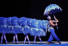 """The Caterpillar in """"Chinese dragon style,"""" Alice In Wonderland Royal Ballet Alice In Wonderland Ballet, Alicia Wonderland, Caterpillar Alice In Wonderland, Alice In Wonderland Costume, Adventures In Wonderland, Wonderland London, Theatre Costumes, Ballet Costumes, Puppet Theatre"""