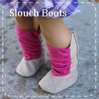 FREE American Girl doll slouch boots pattern