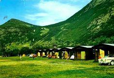 Oppland fylke Lom kommune  Grytin-camping. Bøverdalen 1960-tallet