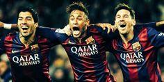 O Tridente: Messi, Neymar e Suárez!