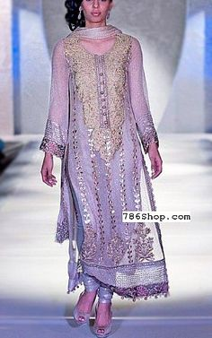 Lilac Crinkle Chiffon Suit | Buy Designer Party Dresses