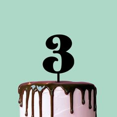 Birthday Cake Topper Number 3 Cake Topper by TheCakeMate on Etsy Birthday Cakes For Men, 50th Birthday Cake Toppers, Wedding Cake Toppers, Wedding Cakes, Wedding Decor, Personalized Cake Toppers, Custom Cake Toppers, Personalized Wedding, Number 3 Cakes